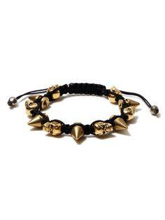 Spikes & Skulls Station Bracelet by Very Me at Gilt