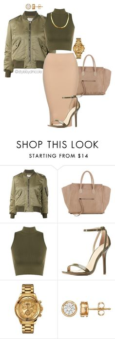 """Untitled #3152"" by stylebydnicole ❤ liked on Polyvore featuring Yves Saint Laurent, CÉLINE, Charlotte Russe and Versus"