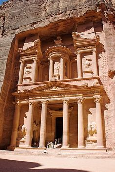 You might recognise this from an Indiana Jones movie. Petra, in Jordan was the most mind-blowing place. The treasury (pictured) is merely the first of the many elaborately carved 'buildings' you see when you arrive through a crevice to this wonderland.