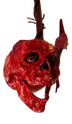 Deluxe Bloody Impaled Skull On Meat Hook Perma Blood Barbed Wire Halloween Prop  https://www.bonanza.com/listings/495990733