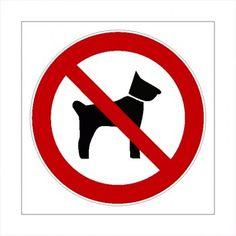 Schild Verbot für Hunde Hunde Verboten Schild