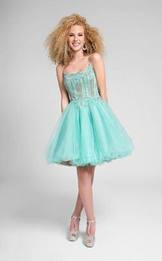Terani Couture - Sweet Beaded Scoop Neck Short Tulle Dress 1711P2235   http://shopstyle.it/l/gxt8