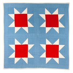 Red Creek Handmade Sawtooth Star Quilt www.acorntoyshop.com