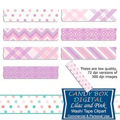 Lilac and Pink Digital Washi Tape. A beautiful combination of lilac and pink, these digital washi tape are just the thing to set off your favorite photos on your blog or in your digital scrapbook. Use them to embellish your pictures and mementos. On Teachers Pay Teachers.
