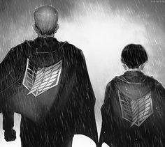 Commander Erwin Smith & Captain Levi... humanity's hope!