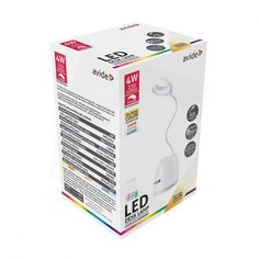 Stolná LED RGB lampa s odkladacím priestorom, 4W, 250lm, biela farba (2) Led, Desk Lamp, Magazine Rack, Storage, Color, Home Decor, Purse Storage, Decoration Home, Room Decor