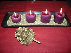 Easy Advent candle set up for kids to make at church, take home with one-sheet devotions/instructions for families.