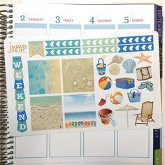 Beach Horizontal layout - Stickers, Boxes & Banners - Erin Condren Planner