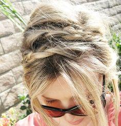 messy layered braids