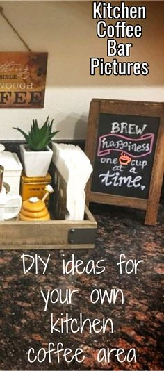 DIY ideas for your own kitchen coffee area - Kitchen Coffee Bar Pictures
