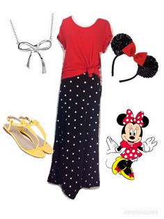 Disney LuLaRoe Minnie Mouse inspired outfit! So cute! LuLaRoe Maxi and Classic…