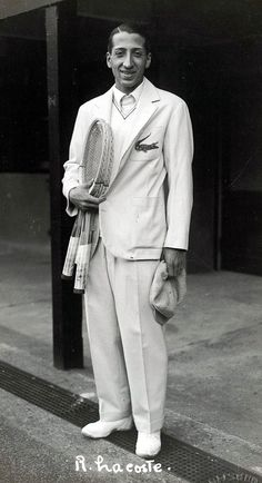 "Rene Lacoste - French tennis player and businessman, he was nicknamed ""the Crocodile"" by fans because of his tenacity on the court; he is known worldwide as the creator of the Lacoste tennis shirt."