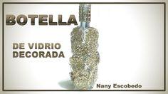 BOTELLA DE VIDRIO DECORADA / DECORATED GLASS BOTTLE