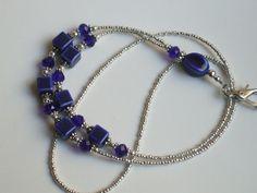 Cobalt Blue Beaded Lanyard ID Badge Holder Teacher Gift New Job Gift Teacher Jewlery Badge Reel by JanellesLittleJems on Etsy