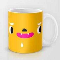 Yellow head Mug by simon oxley idokungfoo.com - $15.00