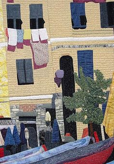 "Gallery of Quilts from Jane Blair Quilts - Still Crazy After All These Years  ""Italia"" close-up, sold for $4,000.00"