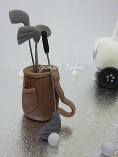 Top That!: Golf Cake topper - Golf bag and clubs