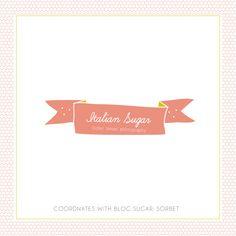 Blog Sugar Logo: Sorbet by Dear Miss Modern {design templates by deluxemodern}