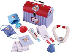 Cute, soft toy doctor kit in carrying box with handle from HAABA. My son loves his kit which we got at his baby shower!