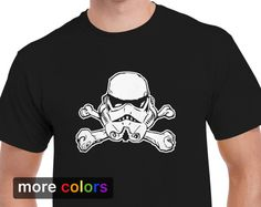 50e13879d Stormtrooper Jolly Roger Mens T-shirt Tee Star Wars Skull Crossbones Pirate