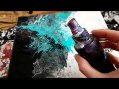 (91) Rainbow Paper Towel Swipe with Acrylic Pour! - YouTube