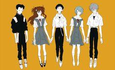 Neon Genesis Evangelion, The End Of Evangelion, Kill La Kill, Manhwa, Anime Girl Cute, Teenage Dream, Art Sketches, Anime Characters, Illustration Art