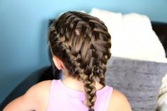 Waterfall into Double French Braids... With Video Tutorial ! I loved it because of the cute double Frenchbacks into flips, but also because on the second day I could take out the braids and have beautiful waves....
