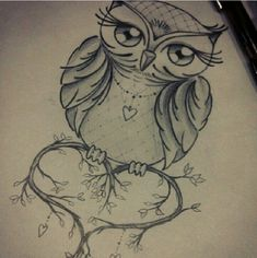 owl drawing stands for wisdom and beauty, vivid eye girl long eyelashes