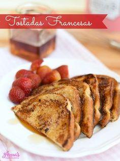La mejor receta de tostadas francesas del mundo!!, suaves y cremosas por dentro y tostadas y dulces por fuera, son INCREÍBLES!!, la receta es de Annas Pasteleria - The best french toast recipe ever from www.annaspasteleria.com