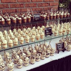 34 unique wedding food dessert table display ideas groe rustikale holz smores bar station smores s mores bar party station hochzeit s mores braten s Unique Wedding Food, Wedding Reception Food, Wedding Desserts, Wedding Catering, Mini Desserts, Unique Weddings, Dessert Recipes, Trendy Wedding, Wedding Ideas