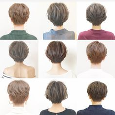 hair japanese Hair cuts from the back Girls Short Haircuts, Cute Hairstyles For Short Hair, Girl Short Hair, Pretty Hairstyles, Short Hair Cuts, Japanese Short Hair, Korean Short Hair, Shot Hair Styles, Curly Hair Styles