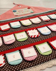 my advent calendar craft search begins. Christmas Sewing, Christmas Love, All Things Christmas, Christmas Holidays, Christmas Crafts, Christmas Ideas, Xmas, Merry Christmas, Fabric Advent Calendar