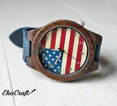 Make America great again Watch Wooden Watch Patriotic US