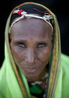 Veiled Gabbra woman - Kenya by Eric Lafforgue, via Flickr -