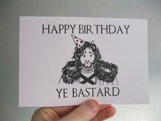 Funny happy birthday birthday card printable birthday card funny birthday card game of thrones card personalised joke silly jon snow got bookmarktalkfo Image collections
