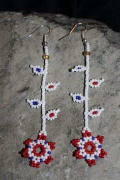 Huichol Beaded Earrings on Etsy, $9.00