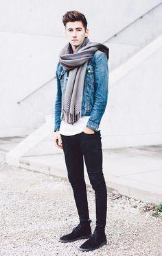 les-beaux-habits: Fall outfit with a nice scarf | Tenue d'automne avec une belle écharpe