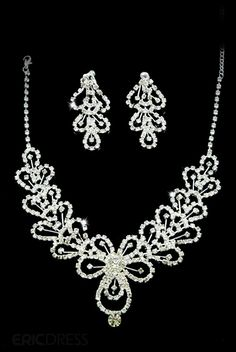 $ 35.89 Attractive Clear Crystals Wedding Bridal Jewelry Set-(Including Necklace,earring) JH3744