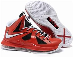 on sale 0f90c dc438 New Nike Lebron X Black Red White Style Basketball Shoes Shop