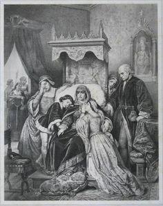 Colección Blaisten Fondo Díaz de León Salazar  La primera juventud de Isabel la católica  Litografía 23.9x19 cm.