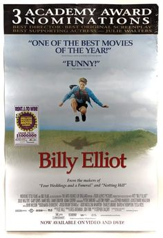 Billy Elliot - Large Movie Poster on Mercari Julie Walters, Jamie Bell, Billy Elliot, Best Director, Poster On, Tom Holland, Boys Who, Good Movies, Just Love