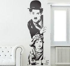 Fantástic vinyl of one film the Charlie Chaplin! #charliechaplin #decoration #wallstickers