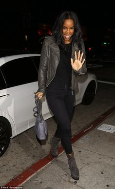 Night off Work:She's been hard at work on her new album. But Kelly Rowland decided to give herself the night off on Saturday, popping out for dinner at Los Angeles hotspot The Nice Guy