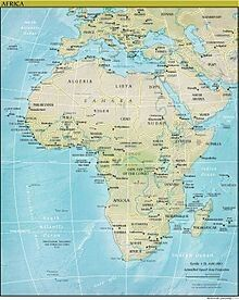 A map of Africa