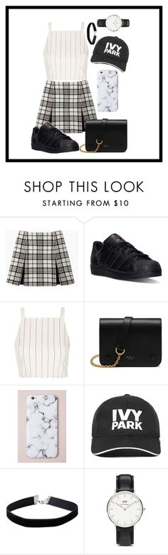 """summy "" by therealexandra on Polyvore featuring Carven, adidas, Topshop, Mulberry, Ivy Park, Miss Selfridge and Daniel Wellington"