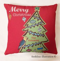 personalized christmas pillow christmas pillows