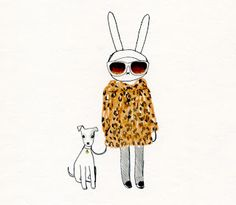 Possible art print for the wall by Fifi Lapin. Fits our bunny theme.