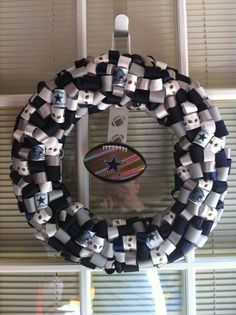 Dallas Cowboy Ribbon Wreath @Theresa Burger Burger Sanchez  look mom