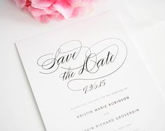 Script Elegance Save the Date Cards - Save the Date Cards by Shine