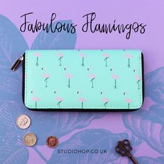 Add a splash of colour to your life with our fabulous flamingo purse wallet!  #fabulousflamingos #funwallets #pursewallets #londonlook #accessories #funkygifts